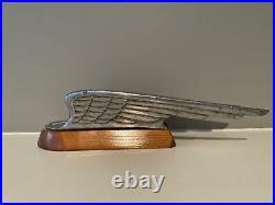 1936 Chrysler Airstream Hood Ornament Mascot Air Wings Vintage Auto Car Part