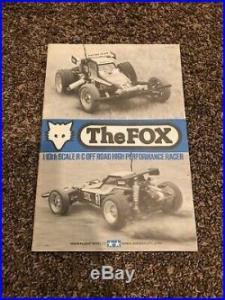 1987 Vintage Tamiya Fox RC car/buggy with radio, charger, box, & Instructions