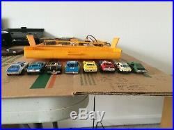 7 Good Running Vintage Aurora AF/X HO slot cars/ restoration parts/carry case