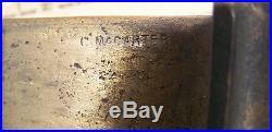 Antique C. McCARTER Railroad Train COAL Car Brass & Wood Vintage COUPLER Part