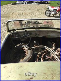 Austin Healey Sprite Vintage Racing Bonnet With Parts Car