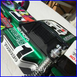 BODY & WING ONLY, Custom Painted Vintage RC10 Masami Repro Protech, by Ultrahive