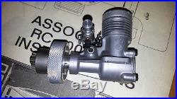 Brand new Vintage Team Associated RC100 1/8 gas r/c car Corvette Veco. 19 engine
