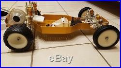 Championship Ed Original Vintage C stamp RC10 Buggy w Motor cvd futaba servo Ex+