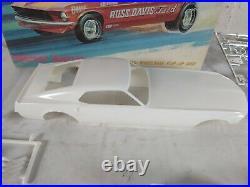 Gas Ronda Longnose Mustang Funny Car AMT 125 Model Kit # T307-200 Parts Lot