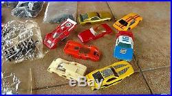 Huge Lot Of 20 Vintage Afx Aurora Ho Scale Slot Cars + Bodies + Parts Lot