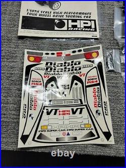 Hpi Rs4 Sport First Gen Lamborghini Diablo Vintage Rc Car Unassembled Kit