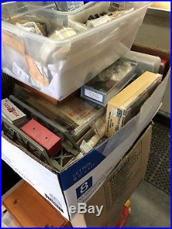 Huge Lot 62 Cases Of Vintage HO SCALE, Trains- Engines, cars, Parts MUST SEE