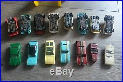 Huge Set Lot Vtg Aurora Model Motoring 8 Built Slot Cars Collection Part Chassis