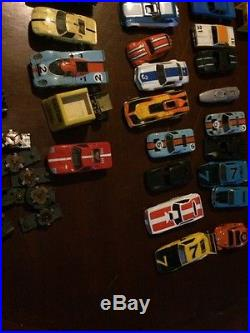 Huge lot of Vintage Slot Car Parts wheels frames body tires pieces Afx Aurora