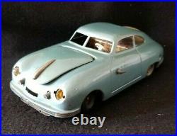 JNF Prototype Porsche 356 Coupe Windup Germany Tin Toy Car Vintage Repair/Parts