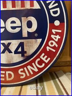 Jeep Sign Parts Service Garage Truck Car Vintage Style Gas Oil Bar Lift Kit 4x4