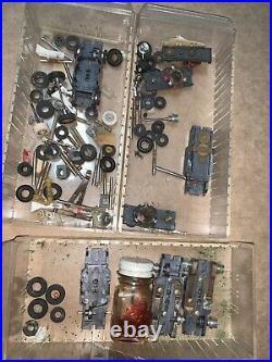 Large 1960s 1970's Vintage Aurora AFX Tyco HO Slot Car Parts Chassis Motors More