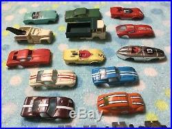 Lot Vintage 1960s Aurora Turbojet Slot Cars Bodies, Chassis, Parts