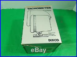 NOS DIXCO accessory Tach vintage pro steet tachometer hot rod / gasser 10k rpm