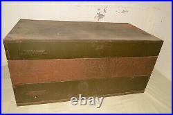 OLD Vtg CARTER Carburetor CAR PART BIN Storage Cabinet GM Rochester OEM LOT