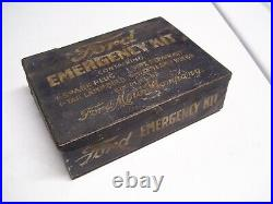 Old rare Original Ford motor co. Emergency kit tin box can tool auto vintage oem