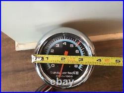 Old school Sun Super tach II 8k Tachometer hot rod muscle car accessory tach