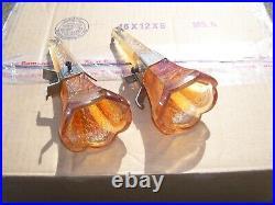 Original 1920 s- 1930s Vintage dash auto Flower VASES brackets Ford gm chevy