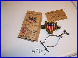 Original 1920 s- 1930s Vintage nos auto Flag holder US flag old Ford gm chevy