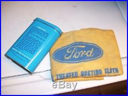 Original Ford motor automobile nos can dust kit accessory vintage parts box tin