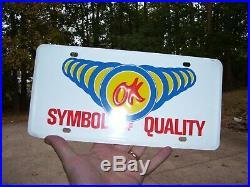 Original GM CHEVROLET nos automobile OK USED CARS promo vintage license plate
