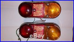 Pair LUCAS L657 Rear Lights BMC Austin Morris Mini Van Traveller Clubman Estate
