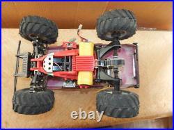 RARE Vintage Tamiya Mud Blaster Subaru Brat RC Truck with Motor, Remote, Parts WORKS