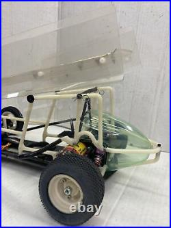 Rare Vintage Custom Works Sprint Car 1/10 Scale with Extra Cage and Parts Lot