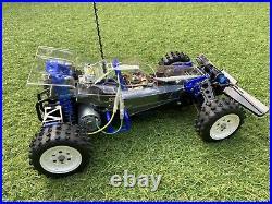 Tamiya Boomerang Vintage Modified Radio Controlled Car+Extra Body Shell+Parts