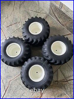 Tamiya Clod Buster White Wheels & Tires Vintage Clodbuster