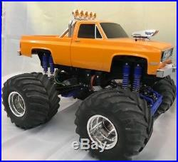Tamiya Vintage Clod Buster 4WD Truck RC Chevrolet Assembled & Painted Orange New