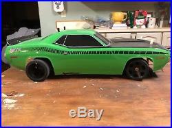 Team Associated Vintage RC 10L PAN CAR Green 1970 AAR CUDA