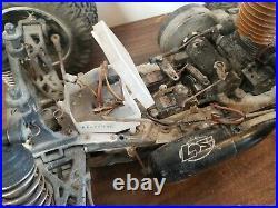 Team Losi lst Nitro 1/8 vintage rc car XXL Non Running For Parts or Repair