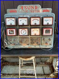 VINTAGE 1940's SUN MOTOR TESTER UNIT AUTO CLASSIC CAR Parts Or Repair