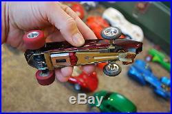 Vintage Slot Car Lot 1/24 Cox Revell Classic Kal Kar Monogram Parts Tool Box Etc