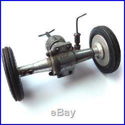 Vintage Tether Car Parts Bodyshell Plus Frog 150 Petrol Engine Model Racing Car