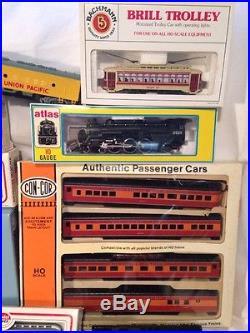 VTG Lg Lot HO ScaleTRAIN CARS, LOCOMOTIVES, TRACK, PARTS, TRANSFORMER Various Brands