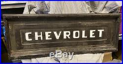 Vintage 1950's Chevrolet Truck Original Tailgate Car Part Bench