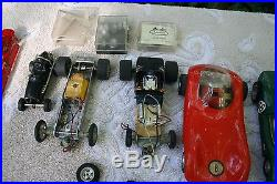 Vintage 1960'S Lot of 1/24 & 1/32 Scale Slot Cars Tires Whells Chassis Parts