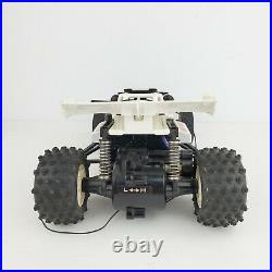 Vintage 1986 Nikko White Turbo Panther RC Car Frame Buggy For Parts or Repair