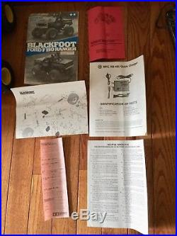 Vintage 1986 Tamiya Blackfoot Ford F-150 + Driver Charger Original Owner