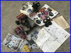 Vintage 1989 TAMIYA Awesome ASTUTE RC CAR with REMOTE HP Off Road Racer sold as is