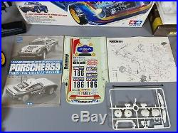 Vintage 80's 1/12 Tamiya R/C Porsche 959 Unpaint Body Partial Built Box Manual