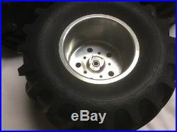 Vintage Aluminum Wheels And Tires For Clod Buster And Mounting Hardware