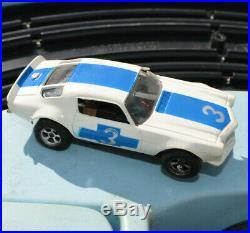 Vintage Aurora Model Motoring Lemans Slot Car Track With Mustang 1970 Parts Lot