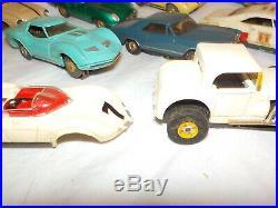 Vintage Aurora Thunderjet lot x11 vintage parts repair 32 ford gt jaguar