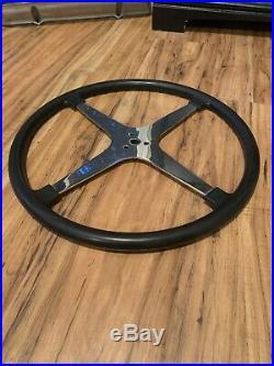 Vintage BELL AUTO PARTS 4 Spoke 17 1/2 Steering Wheel Midget SCTA Dash Panel