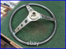 Vintage Dark Green Metal flake custom steering wheel Hot Rod Rat Dune Buggy