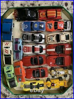Vintage Ho Scale Slot Car Cars Lot And Parts Aurora AFX TYCO Not Tested As Is